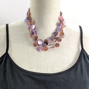 Jewelry - 💙💚Light and Fun Purple Pink Silver Necklace